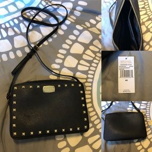 Michael Kors Sandrine Stud Black Crossbody